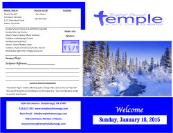 Weekly Bulletin - Temple Baptist Church