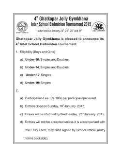 Badminton Tournament - Ghatkopar Jolly Gymkhana