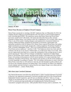 Global Foodservice News