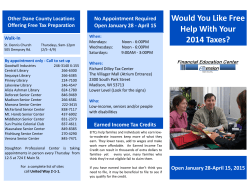 Tax preparation help available in the wider Madison area