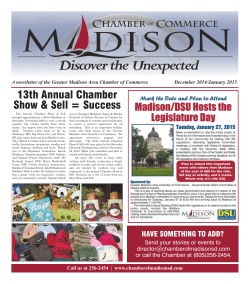 Newsletter - Madison Chamber of Commerce