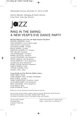 the Playbill - Jazz at Lincoln Center
