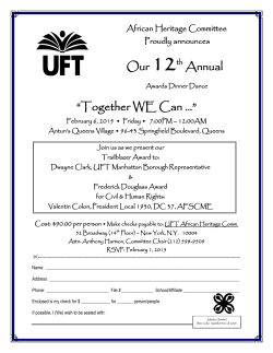 "Our 12th Annual ""Together WE Can …"""