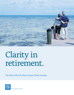 Clear Income Benefits Brochure - New York Life Insurance Company