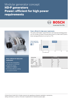 HD-P generators Power - Bosch Mobility Solutions