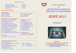 National Conference on RECENT INNOVATIONS IN MECHANICAL