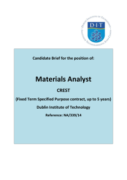 Materials Analyst - Dublin Institute of Technology