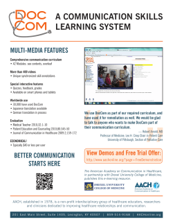 a communication skills learning system