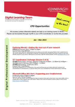 CPD Opportunities - Digital Learning Team