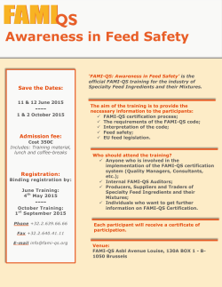 Awareness in Feed Safety - FAMI-QS