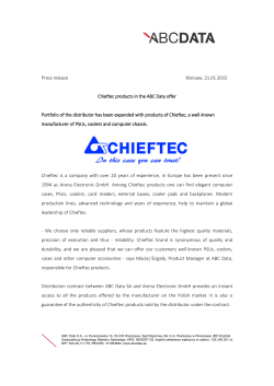 Press release Warsaw, 21.01.2015 Chieftec products in