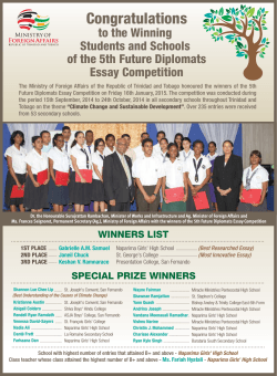 5th Future Diplomats Essay Competition Winners