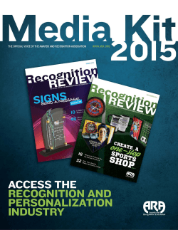 PDF of the Media Kit - Awards and Recognition Association