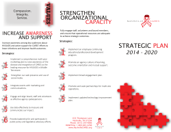 2015 - 2020 Strategic Plan Brochure