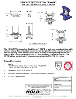 PRODUCT SPECIFICATION DRAWING HOLDRITE® #Strut