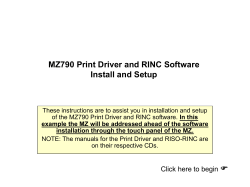 MZ790 Print Driver and RINC Software Install and Setup
