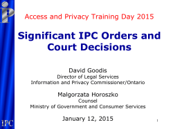Significant IPC Orders and Court Decisions
