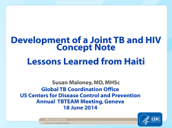 CDC Presentation - World Health Organization
