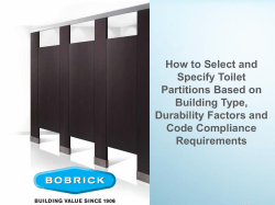 How to Select and Specify Toilet Partitions Based on