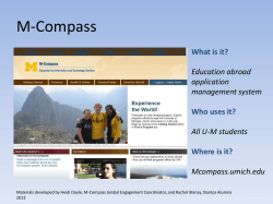 M-Compass Student Tutorial - University of Michigan School of Art