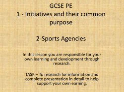 PE Homework - Wildern School