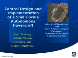 Control Theory Implementation on RC Hovercraft