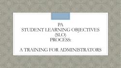 Pennsylvania Student Learning Objectives (SLO)