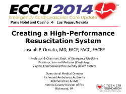 Creating a High-Performance Resuscitation System