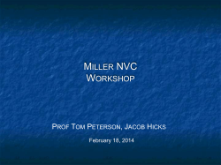 NVC Workshop Slidedeck - Miller New Venture Challenge