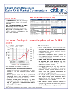 Daily FX & Market Commentary