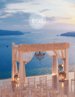 wedding reception - Le Ciel Santorini