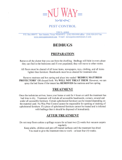Bedbug Prep Notice - Nu Way pest Control