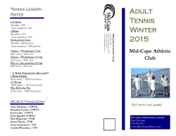 winter adult brochure - Mid-Cape Racquet & Health Club