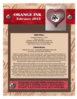 February 2015 Orange Ink - Society for Calligraphy