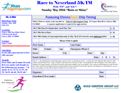 5/10 Race to Neverland 5K, Cherry Hill, NJ