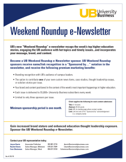 Weekend Roundup e