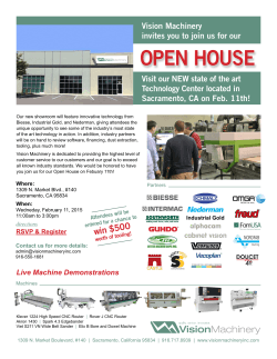 View flyer - Vision Machinery