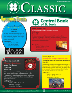 the Classic Newsletter - Central Bank of St. Louis