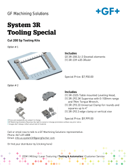 System 3R Tooling Special