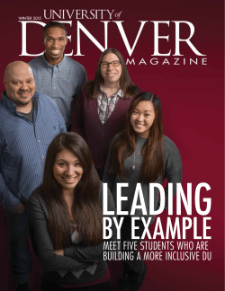 DU Magazine PDF version - University of Denver Magazine