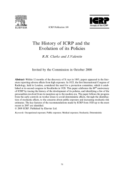 The History of ICRP and the Evolution of its Policies (published in