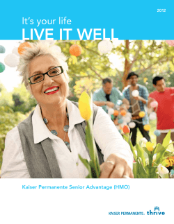 LIVE IT wELL - Kaiser Permanente Federal