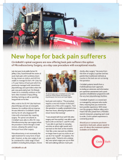 New hope for back pain sufferers