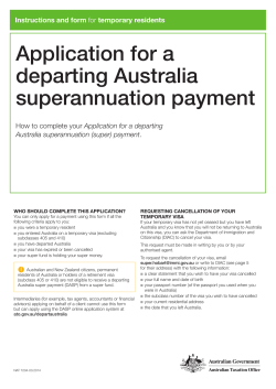 Application for a departing Australia superannuation payment