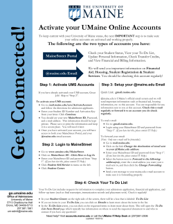 Activate your UMaine Online Accounts