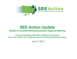 SEE Action Update - National Association of State Energy Officials