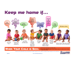 keep me home if - California Childcare Health Program
