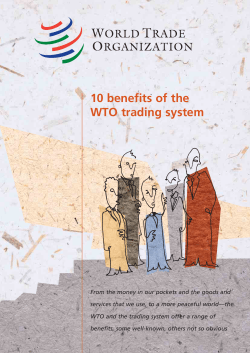10 benefits of the WTO trading system