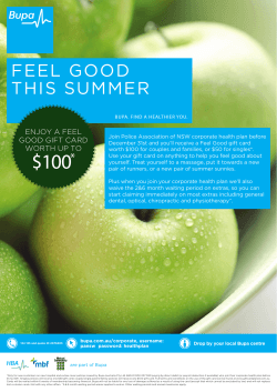 FEEL GOOD THIS SUMMER - Police Association of NSW