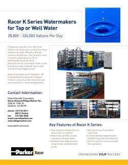 Racor K Series Watermakers for Tap or Well Water
